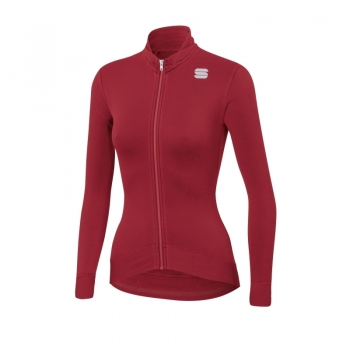 Sportful Monocrom Woman Thermal Jersey Red Rumba