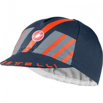 Castelli Hors Categorie Cap Saviel Blue/Light Steel Blue/ Brilliant Orange