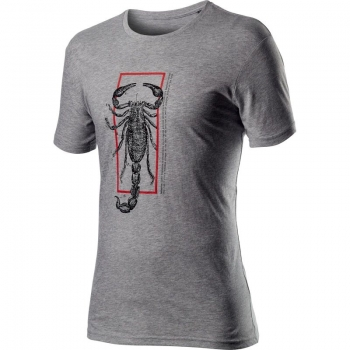 Castelli Logo Tee Melange Light Grey