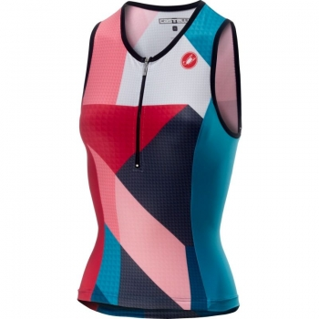 Castelli Core 2 W Singlet Multicolor Turquoise Green