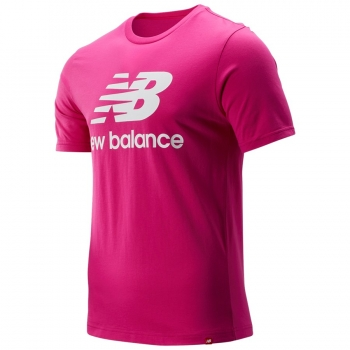 New Balance Essentials Stacked Logo T carnival