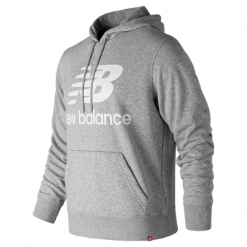 New Balance Essentials Stacked Logo PO Hoodie athletic grey