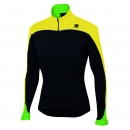 Sportful Force Thermal Jersey Black/Yellow Fluo