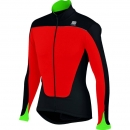 Sportful Force Thermal Jersey Red/Black/Green Fluo