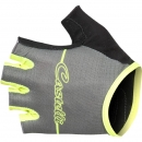 Castelli Dolcissima W Glove Forest Gray/Yellow Fluo